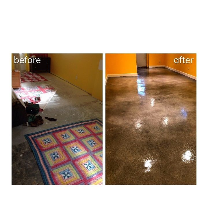Custom Interior Floors St Louis MO Colored Concrete Stain