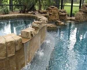 swimming pool waterfalls