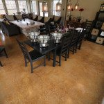 residential stained concrete floor