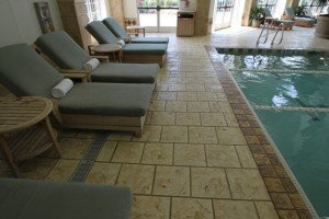 stamped concrere pool deck