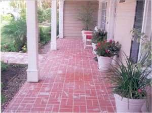 brick stamped pattern St Louis