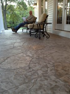 stamped concrete patio wildwood