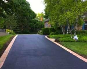 Asphalt paving driveway