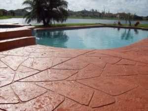 stamped concrete pool deck st louis