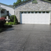 stamped concrete driveway installation st louis mo