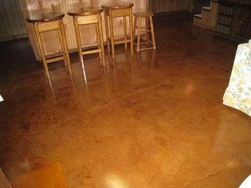Custom interior floors st louis mo colored concrete stain for Interior concrete floors