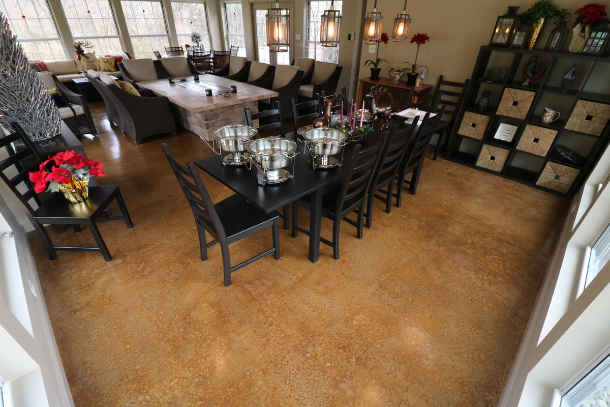 Residential Stained Concrete Floors: Custom Interior Floors St Louis MO Colored Concrete Stain