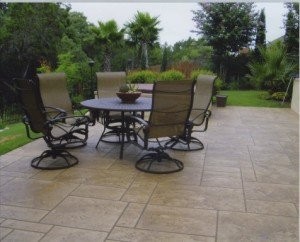 stamped patio overlay