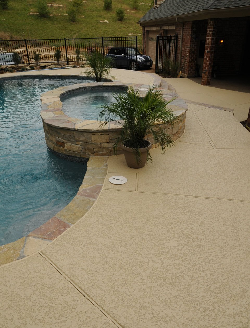 Pool deck ideas st louis mo decorative concrete resurfacing - Pool restoration ...