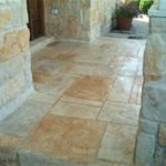 limestone stamped entryway st louis