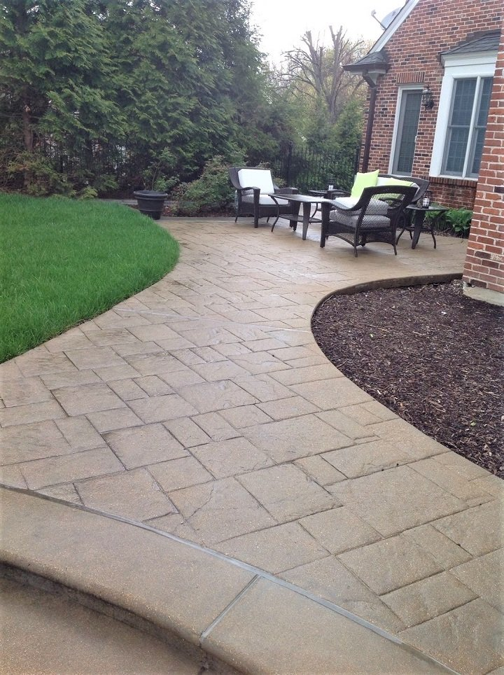 Concrete Patios Designs Amp Ideas St Louis Mo Imprinted Concrete