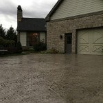stamped concrete driveway application
