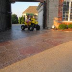 stamped concrete overlay installation st louis