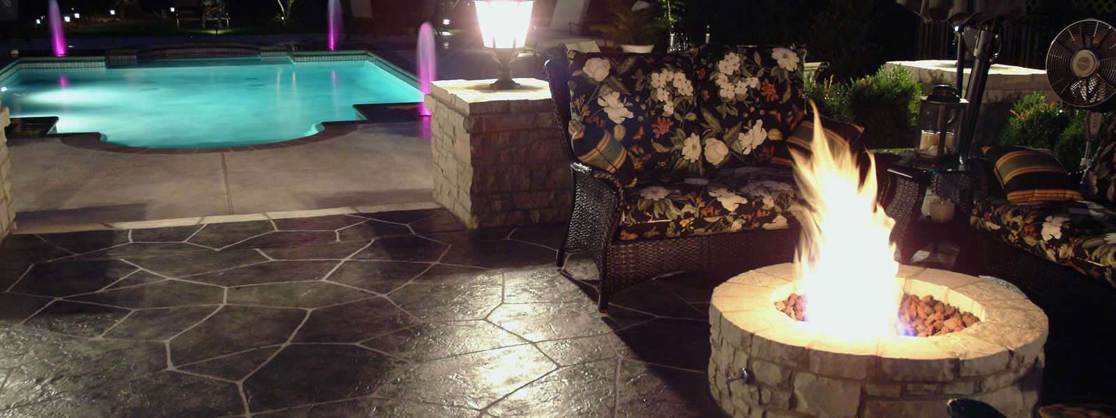 Inviting concrete patio… Relax and enjoy!