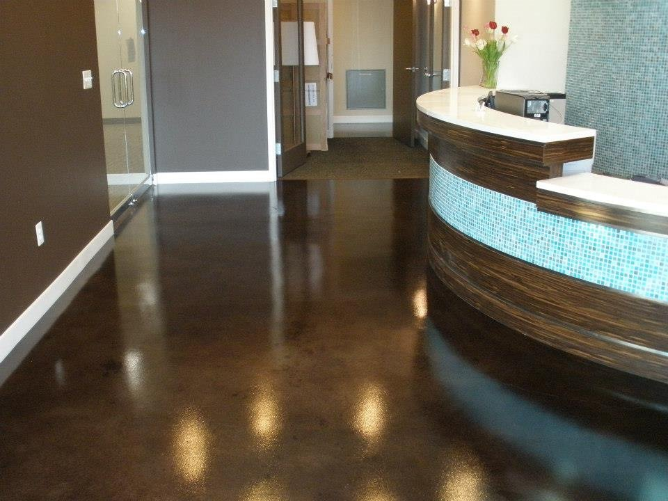 Decorative concrete resurfacing - Interior concrete floor resurfacing ...