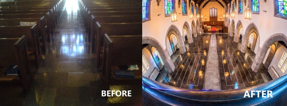 before-after-flooring-The-First-Presbyterian-Church