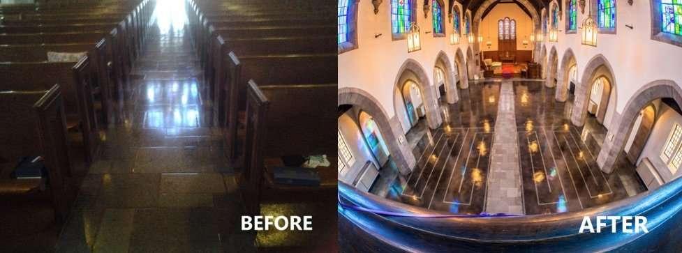 before-after-flooring-The-First-Presbyterian-Church