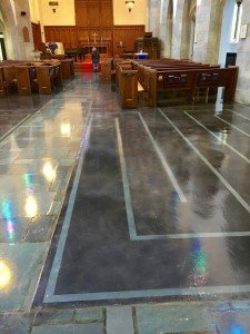 Staining Project in University City, MO - Church Flooring
