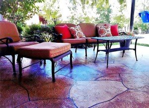 comfy colorful patio chairs