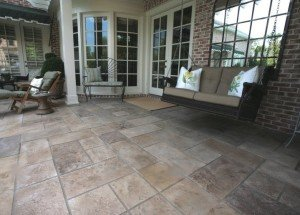 patio stamped concrete