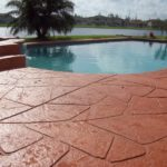stamped concrete pool deck st louis
