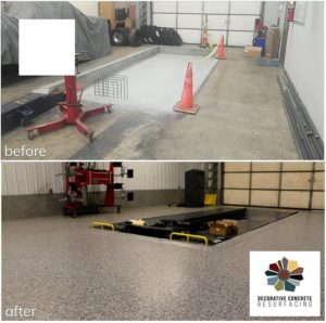 before and after garage flooring pevely, mo