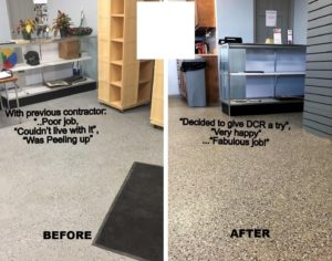 Epoxy flooring before after Staunotn , MO