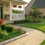 stamped concrete flower beds