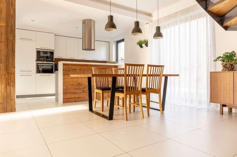 tile floor kitchen