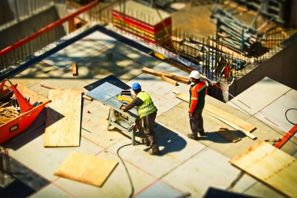 contractor men in construction site