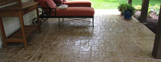 5 Stamped Concrete Overlay Ideas